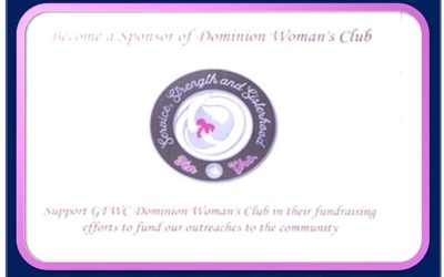 Become a Sponsor of Dominion Woman's Club