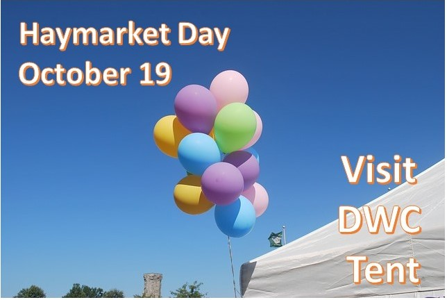 DWC participation in Haymarket Day celebration on October 19, 2019.