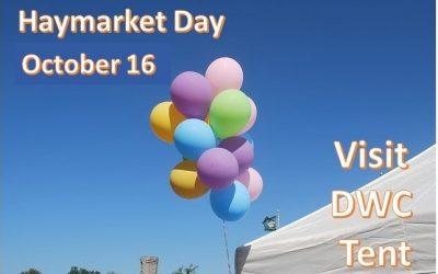 DWC participation in Haymarket Day celebration on October 16, 2021.